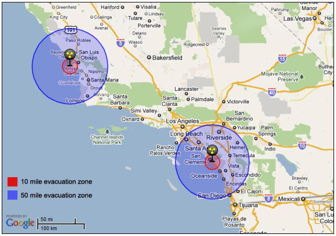Noyonews Net Maps Of California Nuclear Reactors In California Map - Nuclear Power Plants In California Map