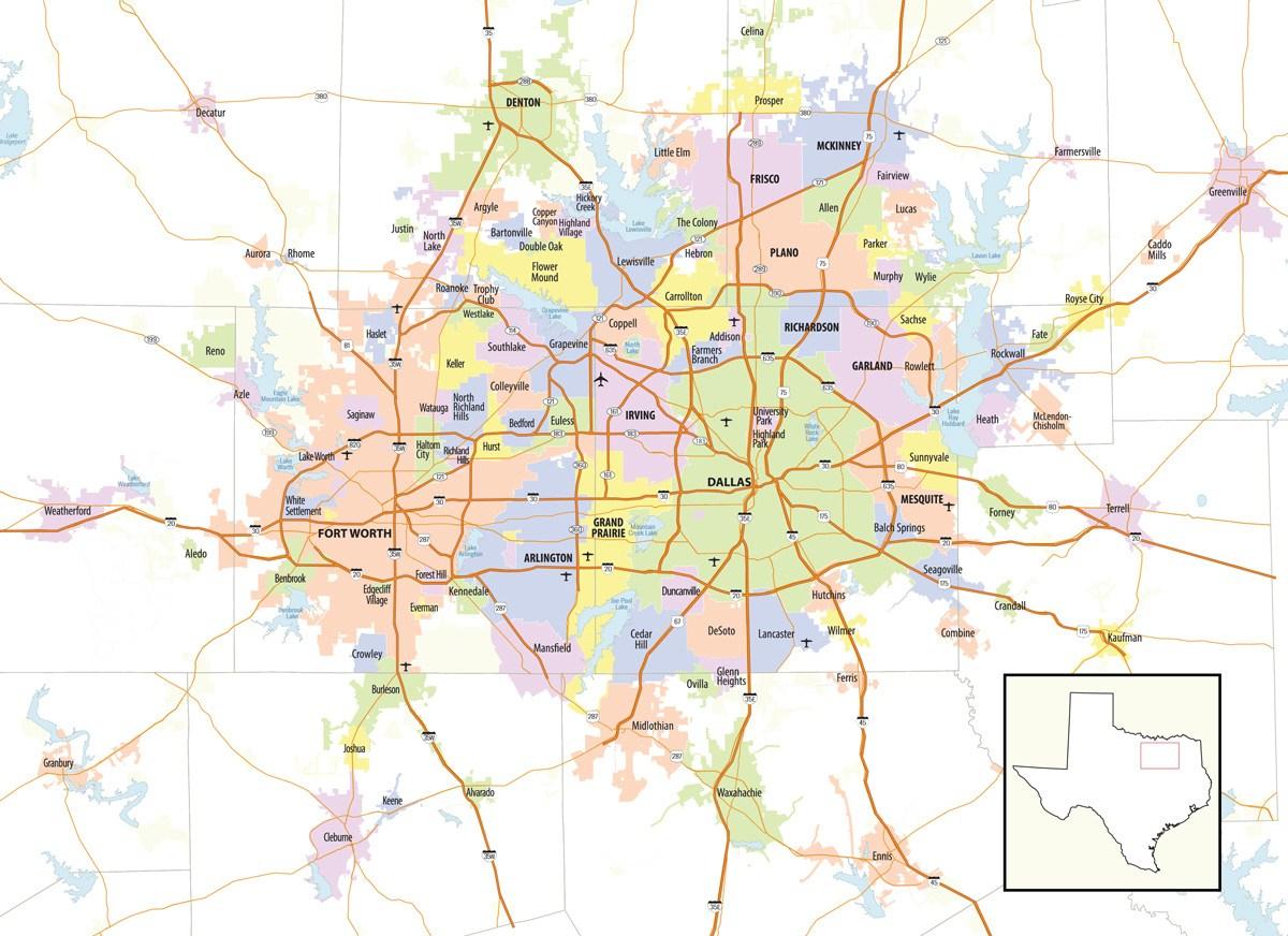 Ntx-Map - North Texas Commission : North Texas Commission - Trophy Club Texas Map