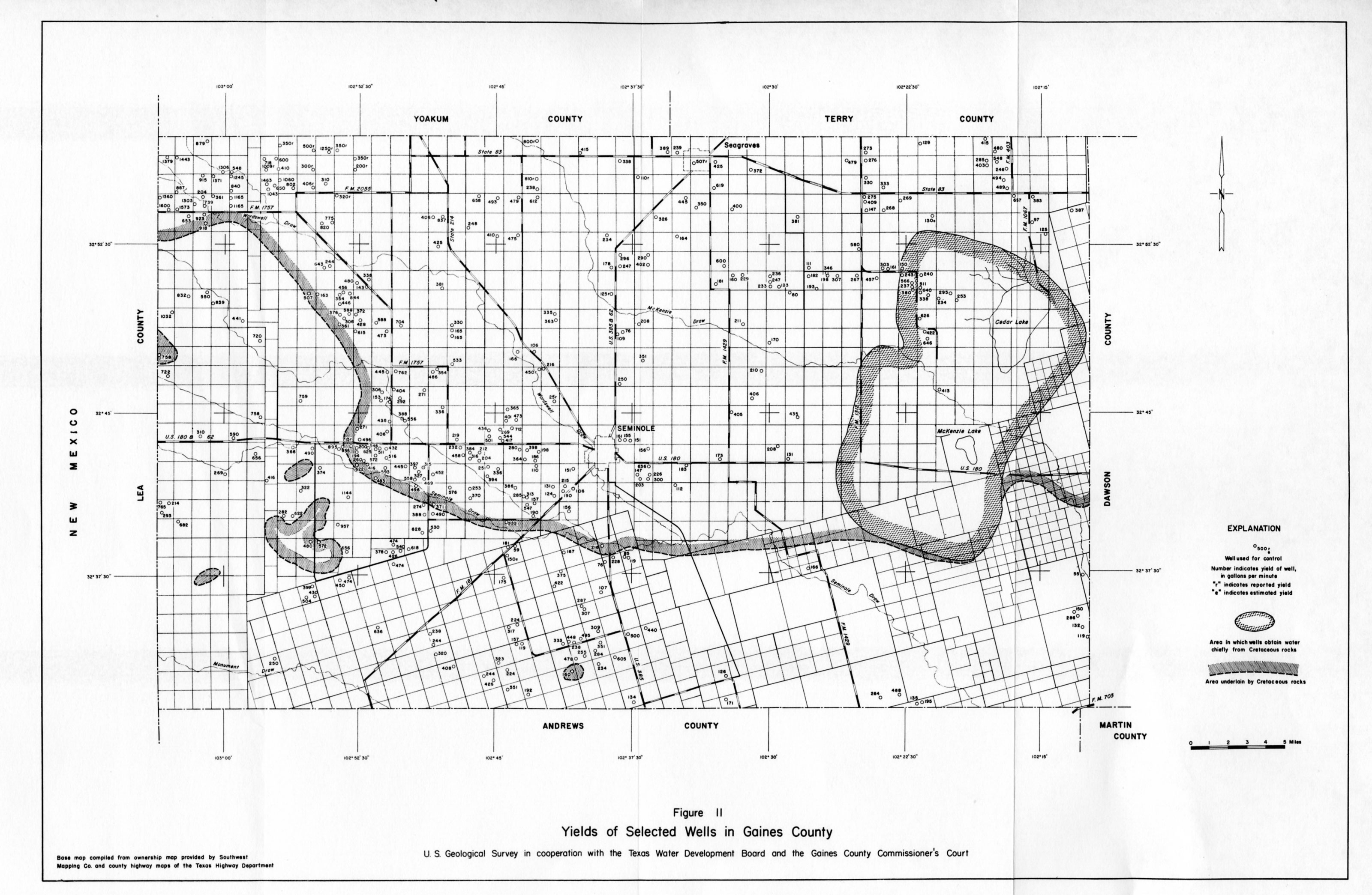 Numbered Report 15 | Texas Water Development Board - Martin County Texas Section Map