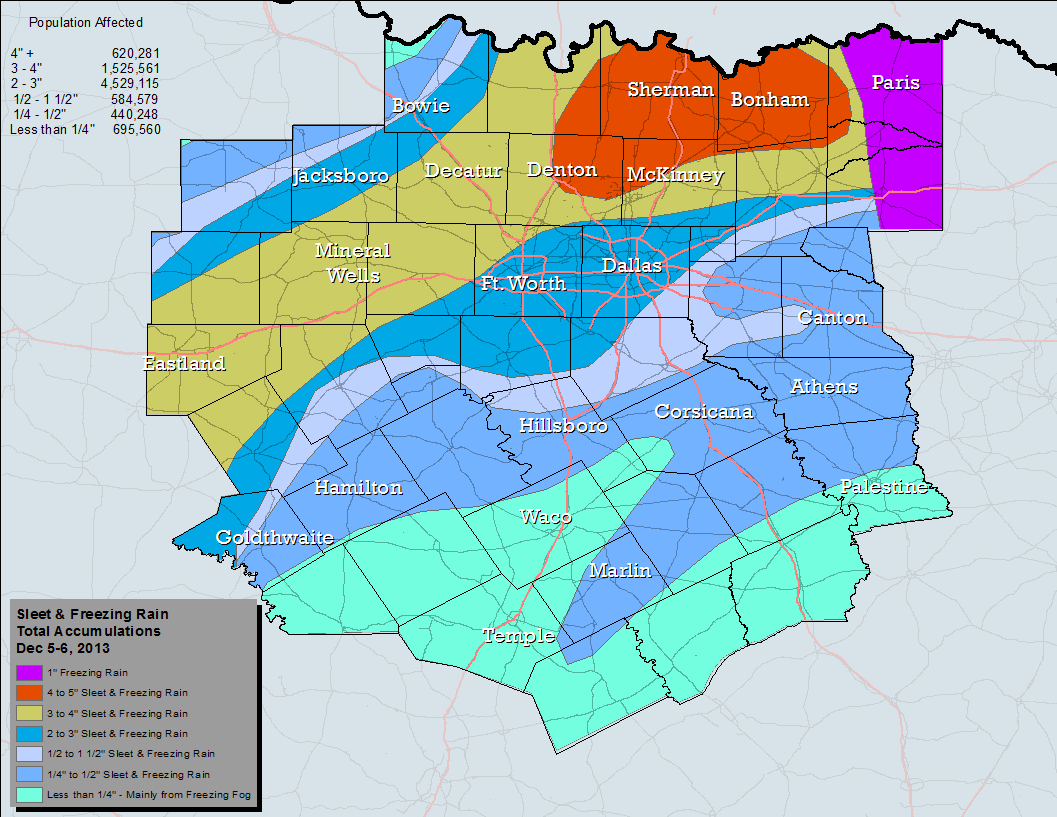 Nws Ft. Worth - Texas Weather Map Today