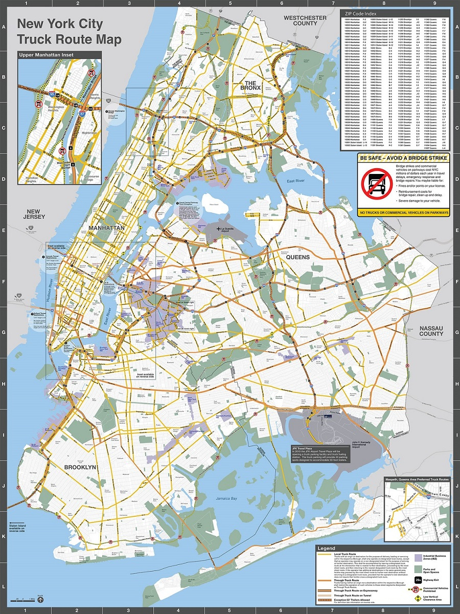Nyc Dot - Trucks And Commercial Vehicles - California Oversize Curfew Map