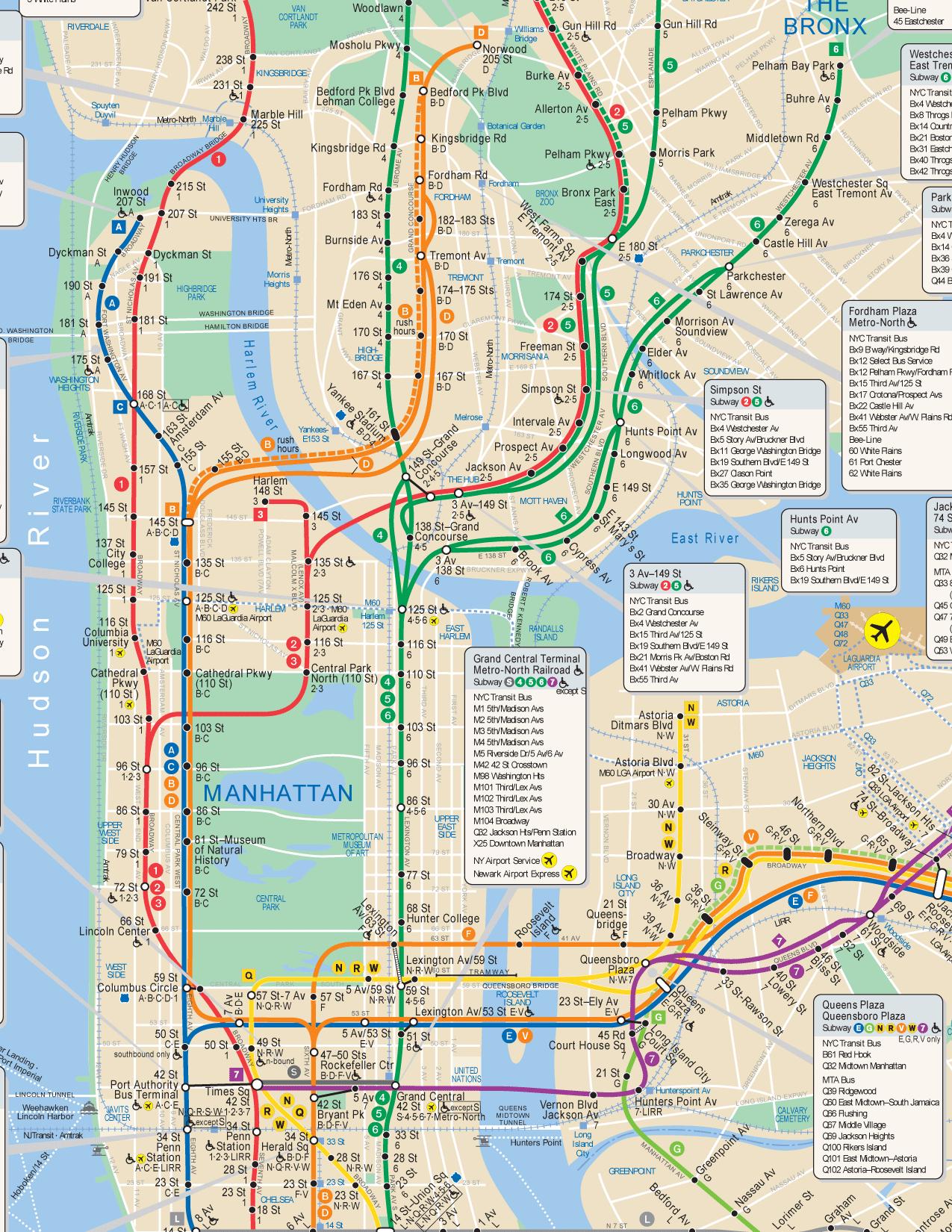 Nyc Subway Map Hi Res - Printable Nyc Subway Map