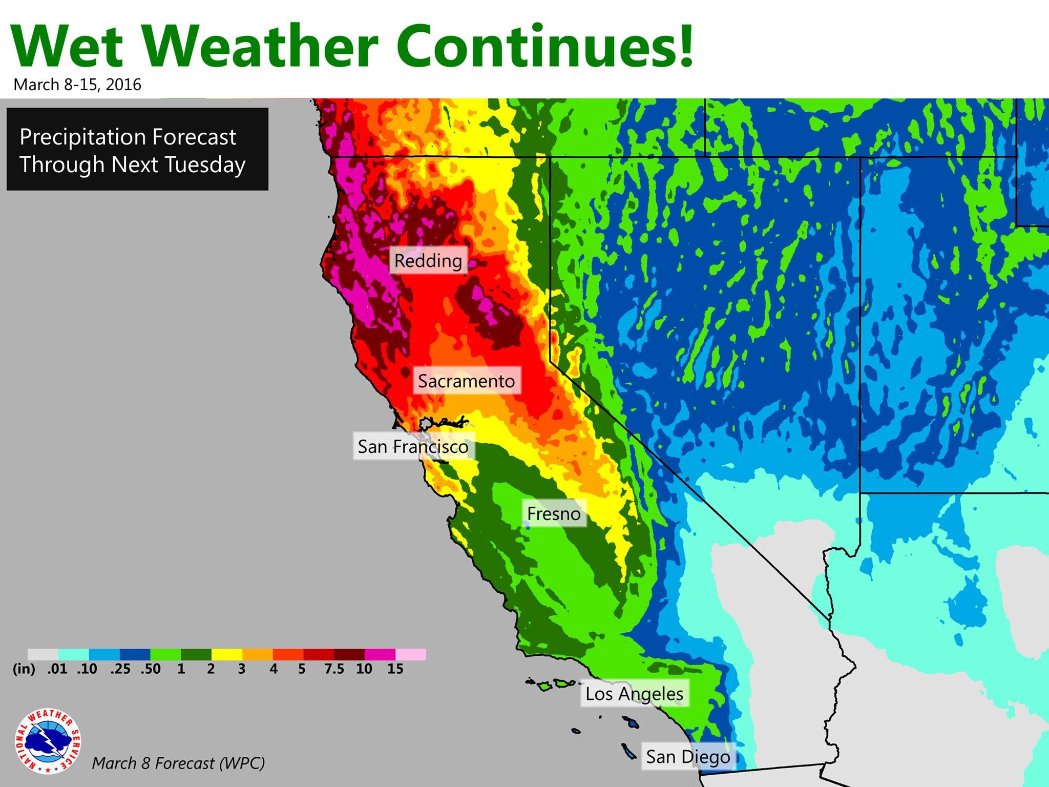 O Maps Of California California Weather Forecast Map - Klipy - California Weather Map For Today