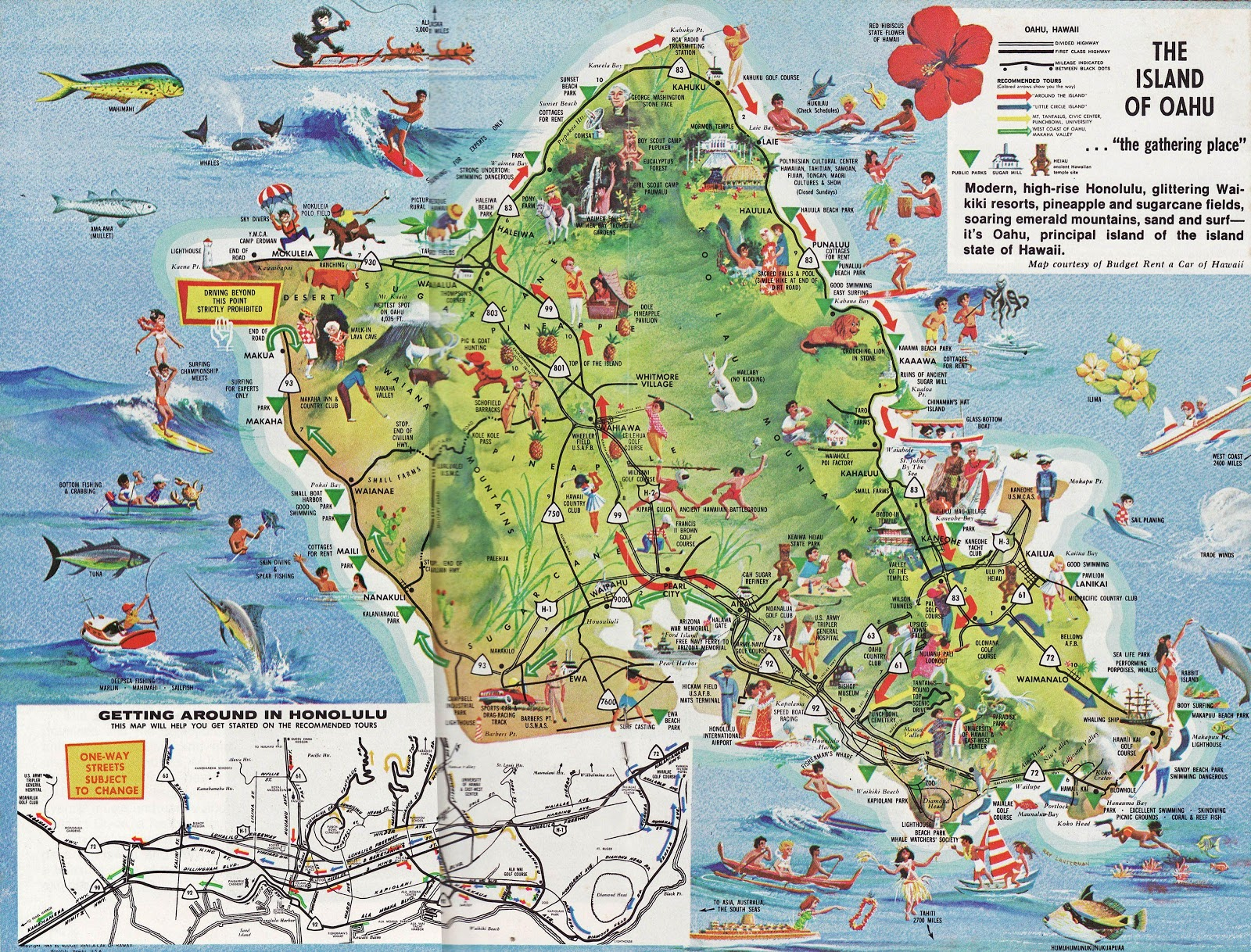 Oahu Maps | Compressportnederland - Printable Map Of Oahu Attractions