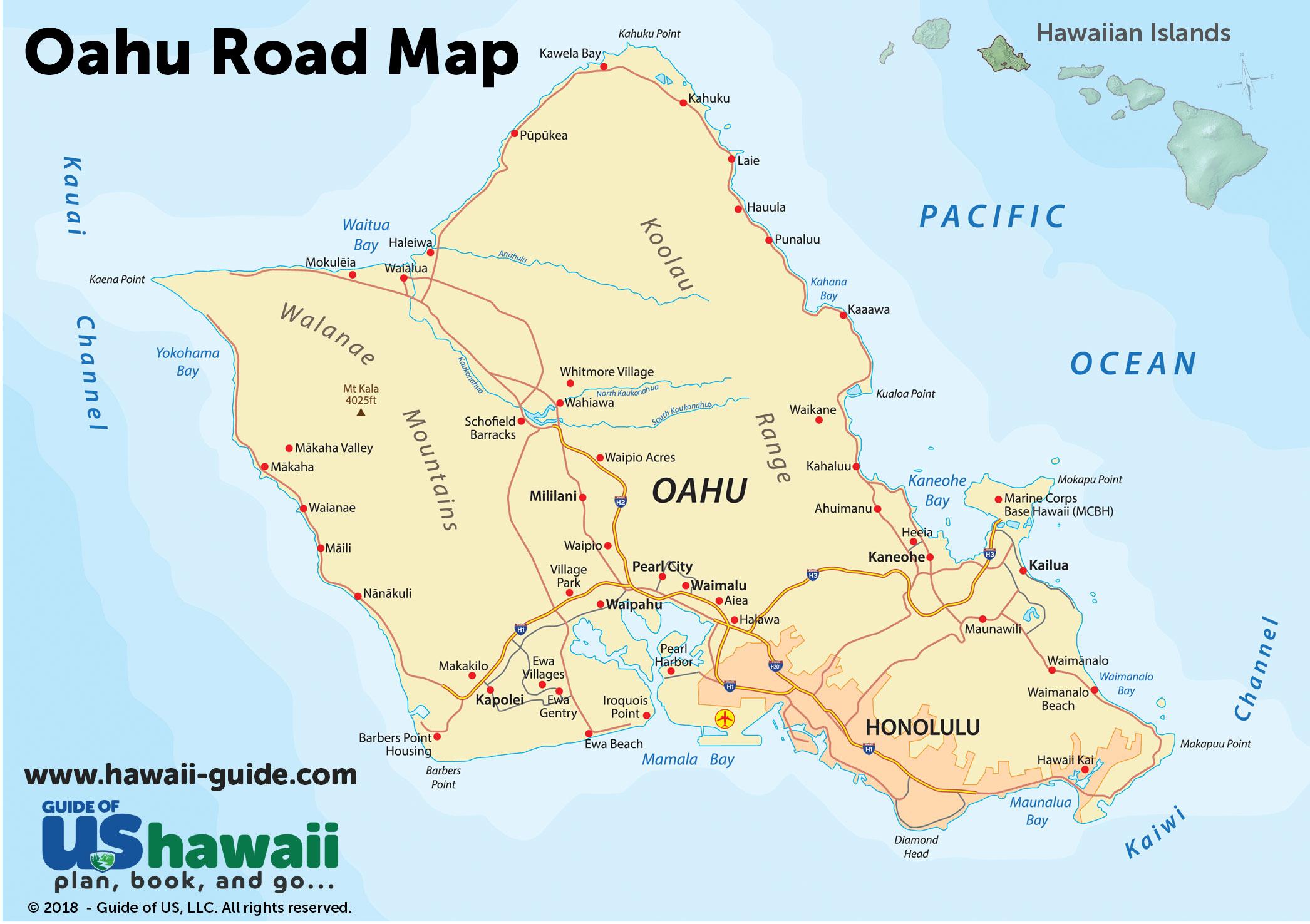 Oahu Maps - Oahu Map Printable