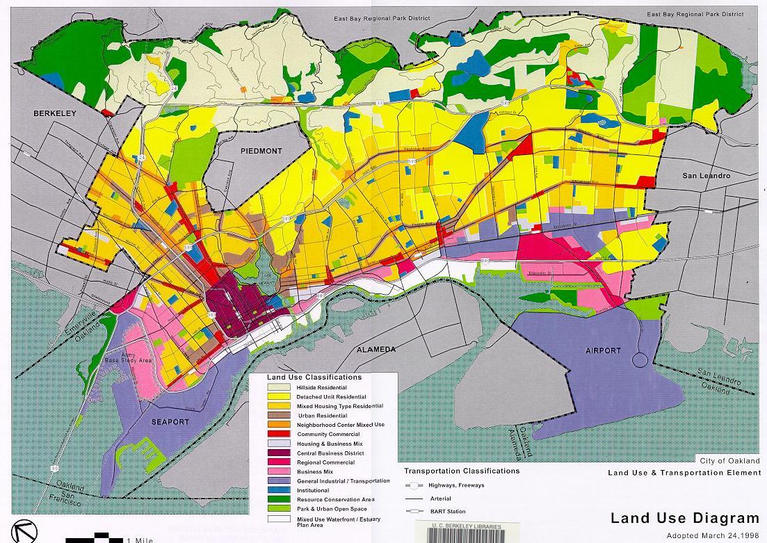 Oakland California Land Use Map - Oakland California Map