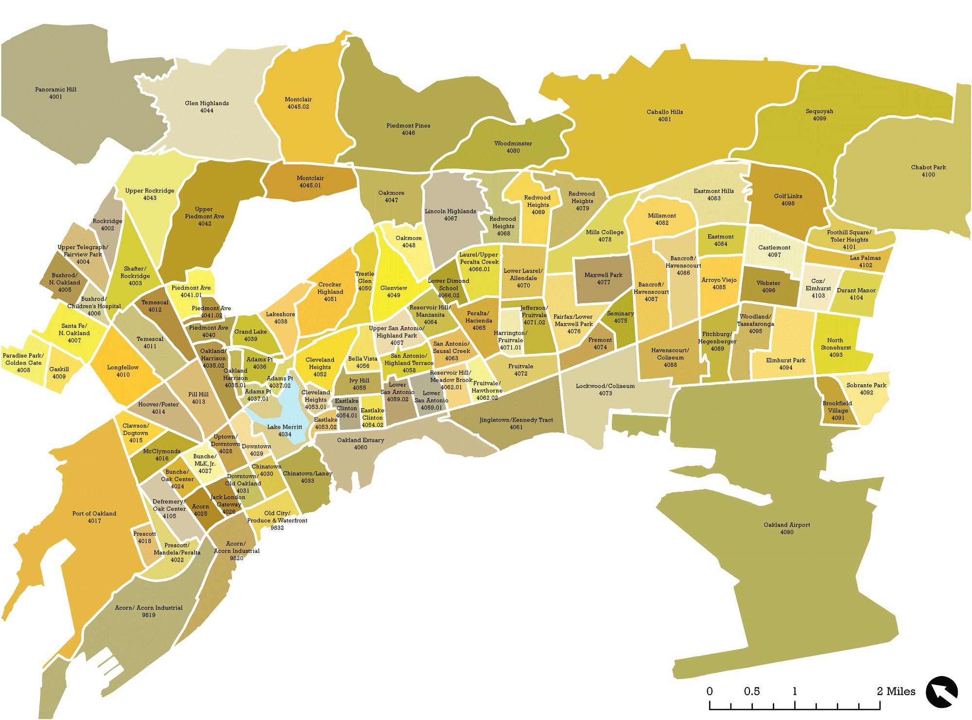 Oakland California Neighborhood Map - Google Search | Hood Maps In - Oakland California Map
