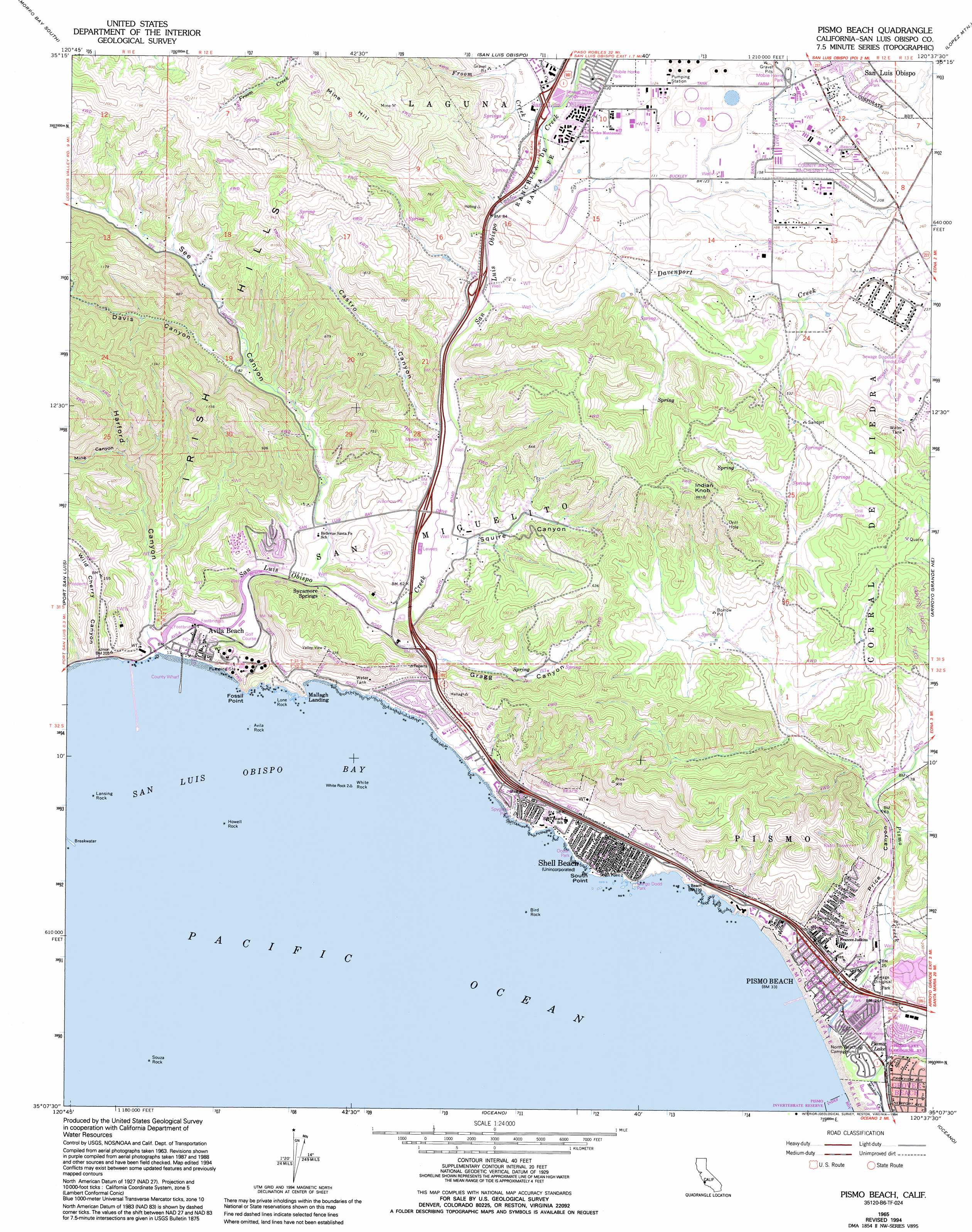 Ob California Road Map Pismo Beach California Map - Klipy - Pismo Beach California Map
