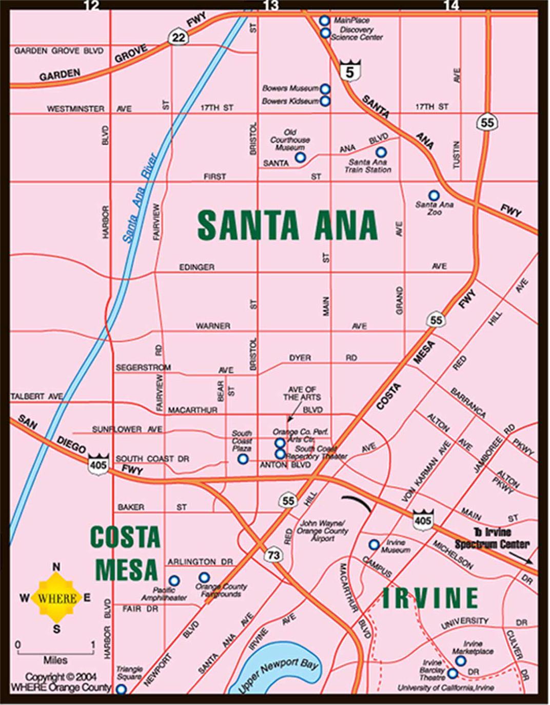 Oc Map Cmb Google Maps California Map Of Irvine California And - Irvine California Map