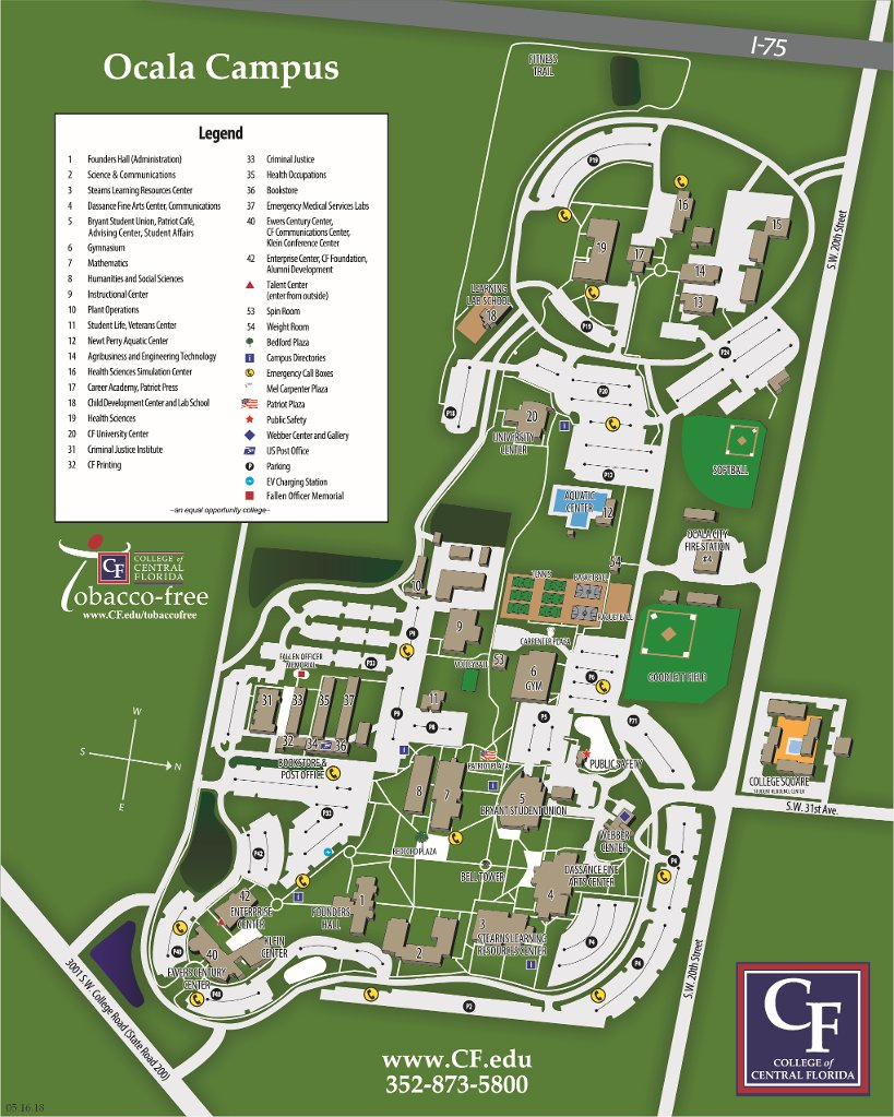 Ocala Campus Map   College Of Central Florida - Florida Map Directions