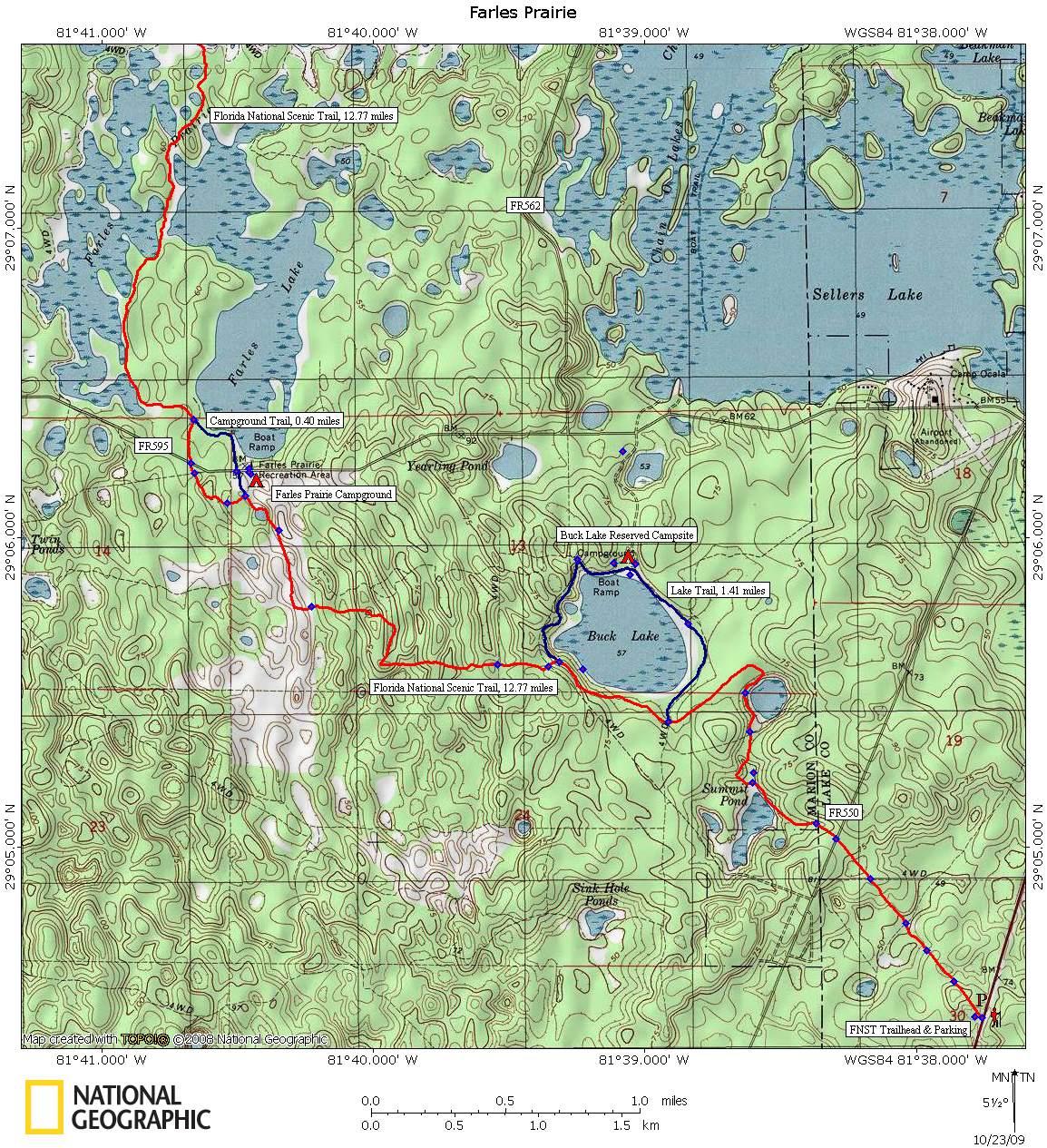 Ocala National Forest - Farles Prairie - Florida Trail Maps Download