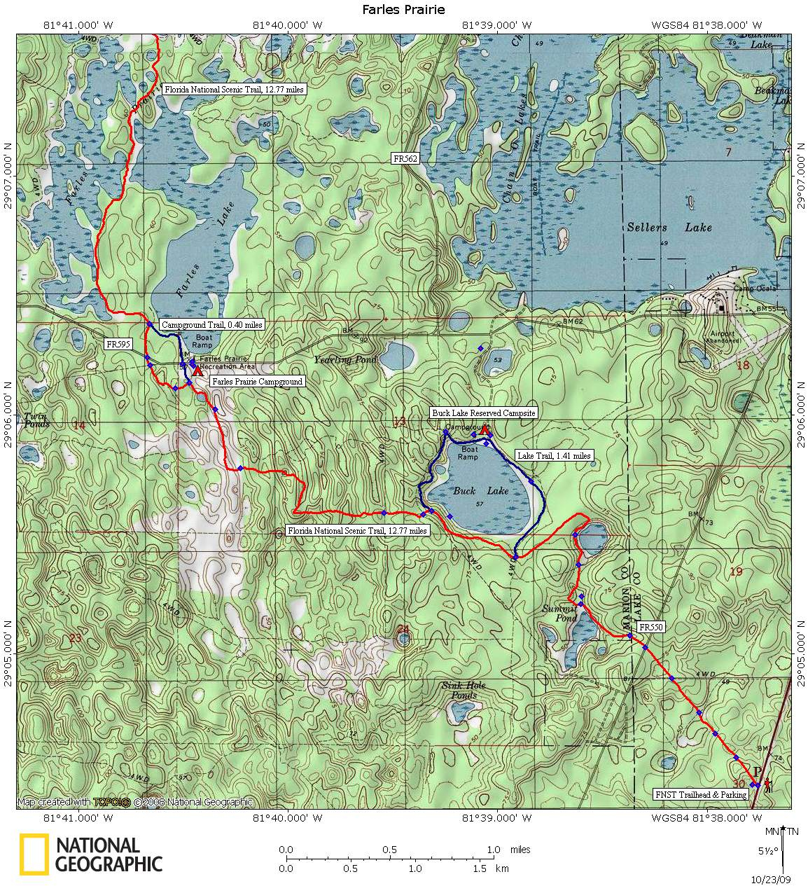 Ocala National Forest - Farles Prairie - National Forests In Florida Map