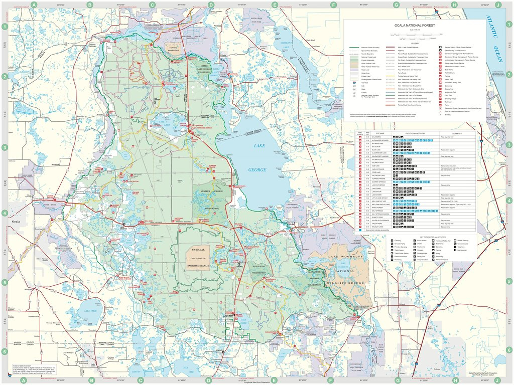 Ocala National Forest - Maplets - National Forests In Florida Map