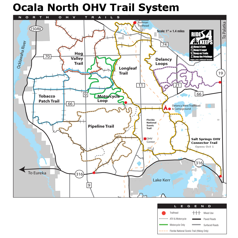 Ocala National Forest - Maps & Publications - Florida Trail Maps Download