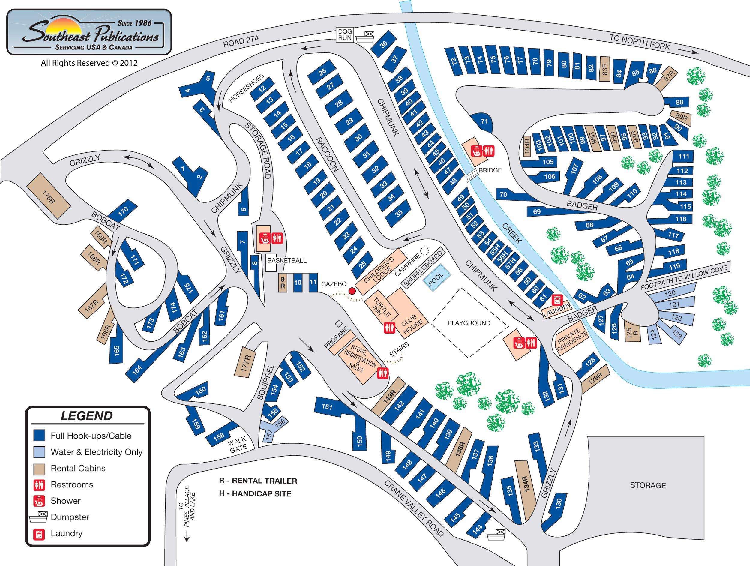 Ocean Mesa Rv Park California State Map Rv Parks California Map Map - California Rv Camping Map