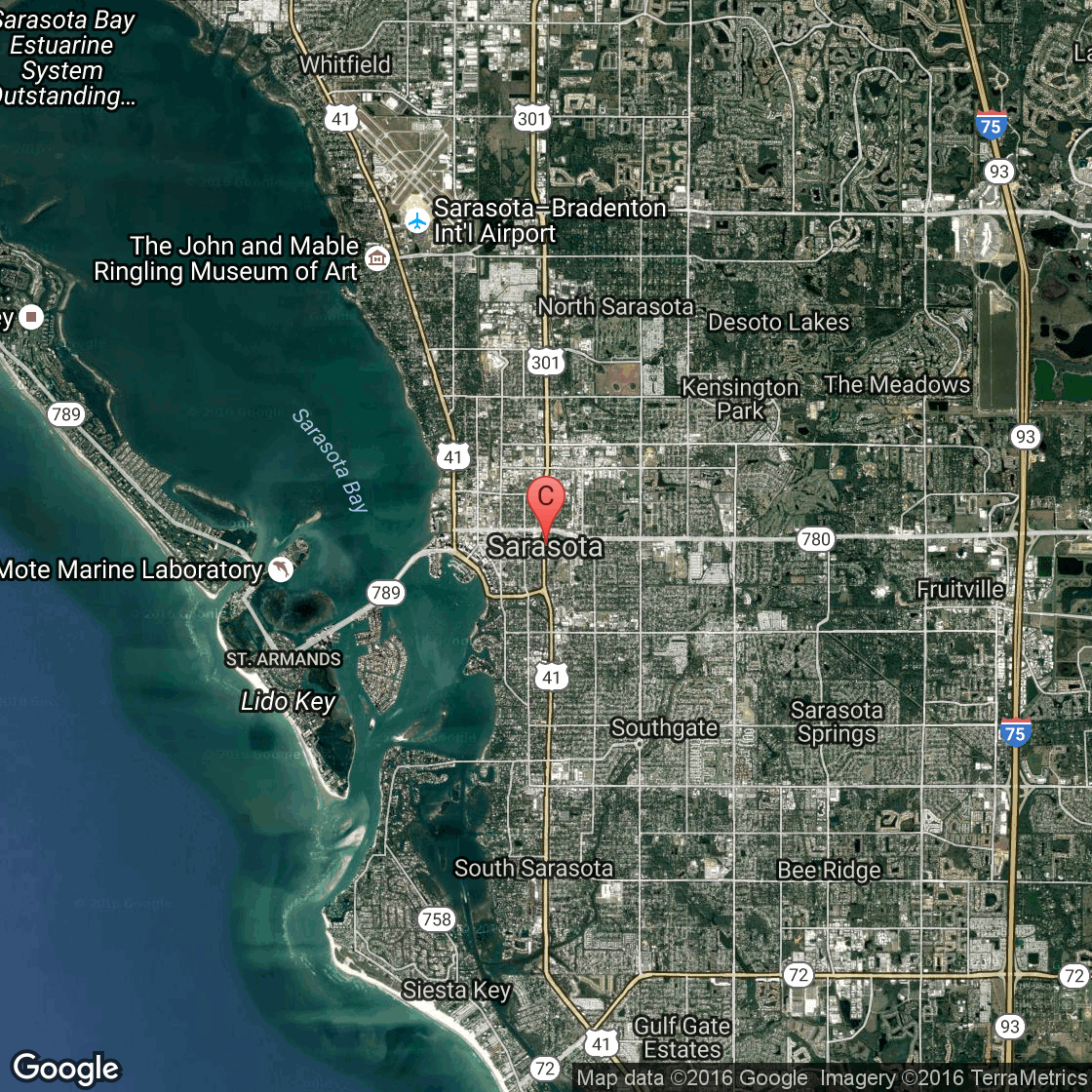 Oceanfront Hotels In Sarasota | Usa Today - Map Of Hotels In Siesta Key Florida