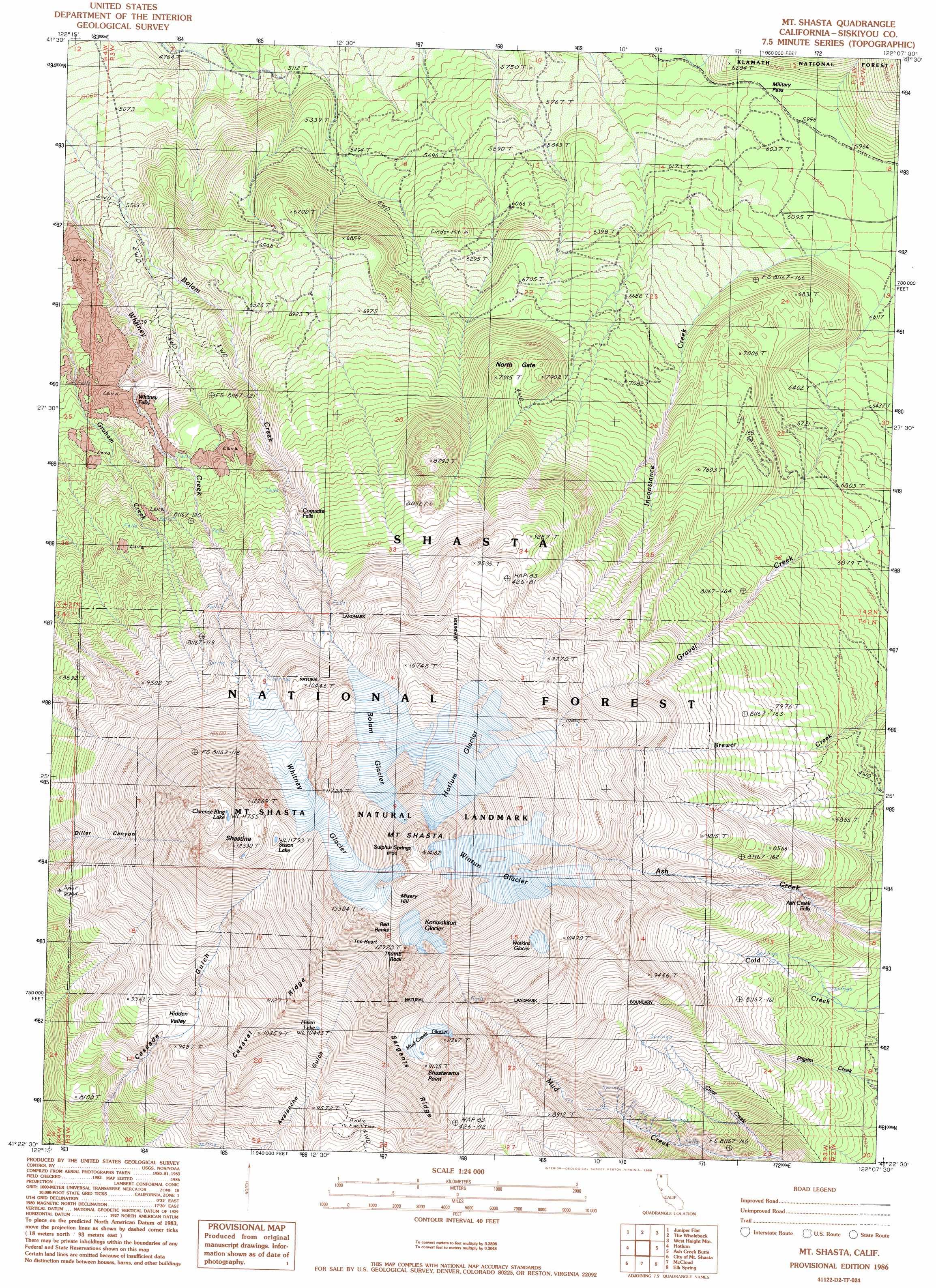 Od Map California Mount Shasta California Map - Klipy - Mount Shasta California Map