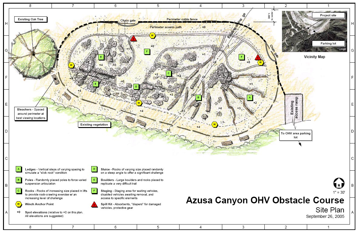 Off Road Park - Azuza Canyon Ohv California - Socal Prerunner - Off Road Maps Southern California