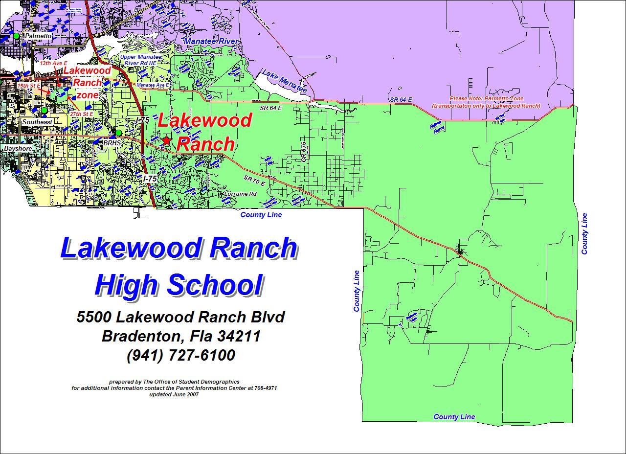 Office Of Student Assignment / High School Zone Maps - Lakewood Ranch Map Florida