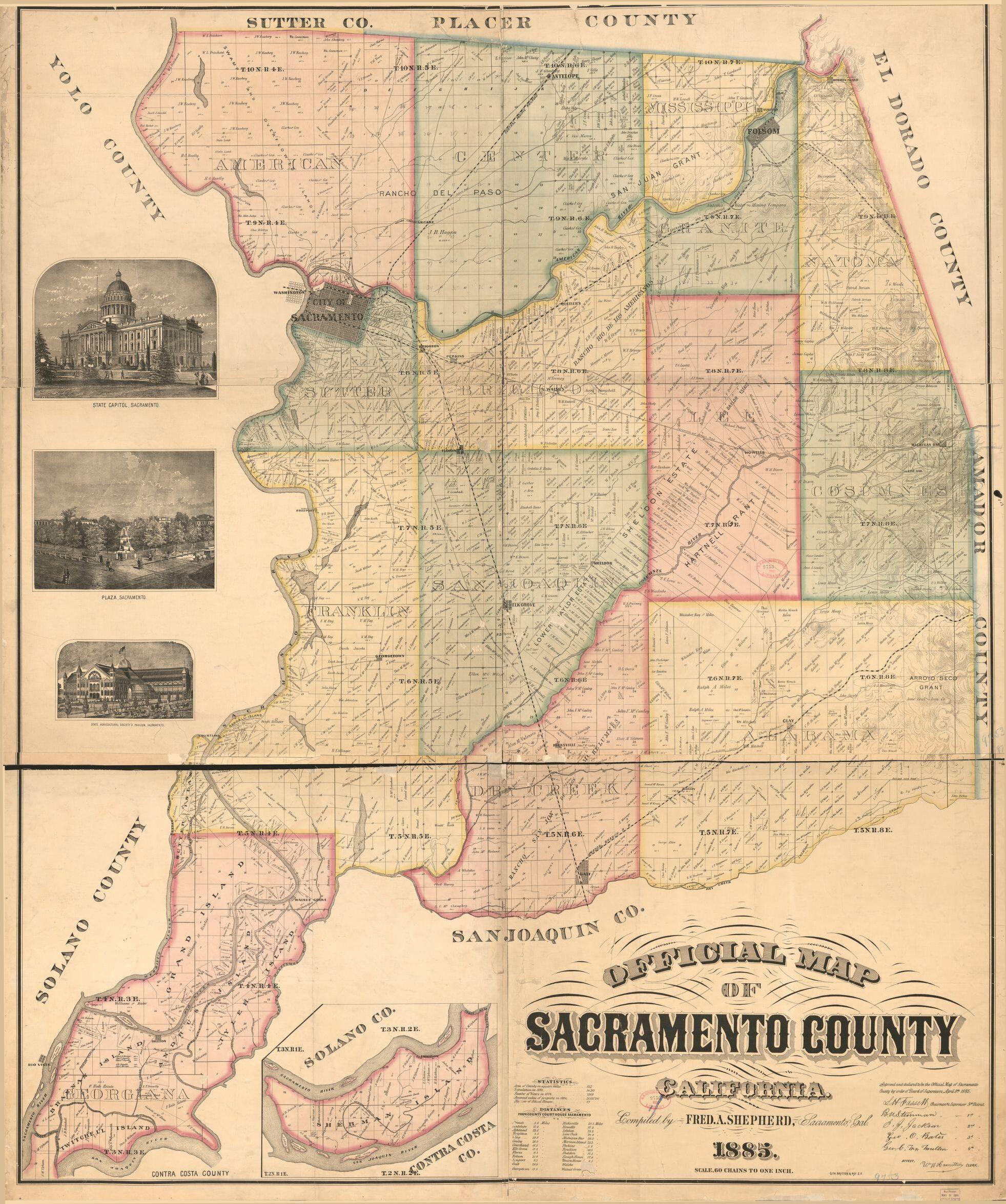 Official Map Of Sacramento County, California | Library Of Congress - Map Of Sacramento County California