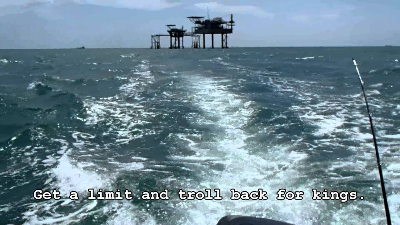 Offshore Fishing Galveston Texas - Youtube - Texas Oil Rig Fishing Map