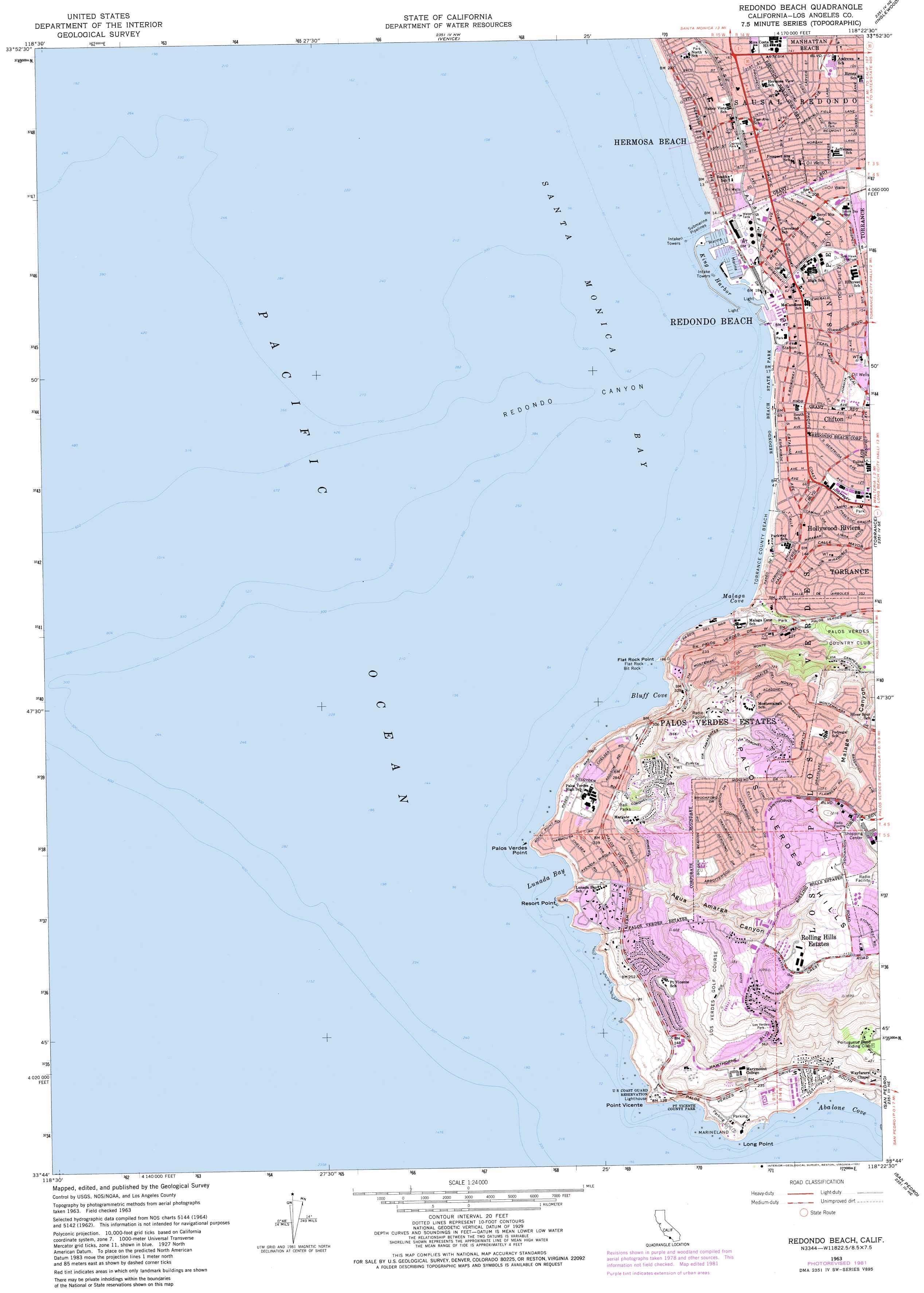 Og Printable Map Of Hermosa Beach California Map - Klipy - Hermosa Beach California Map