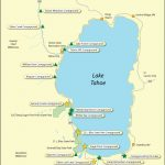 Oh California Map With Cities Lake Tahoe On Map Of California   Map Of Lake Tahoe Area California