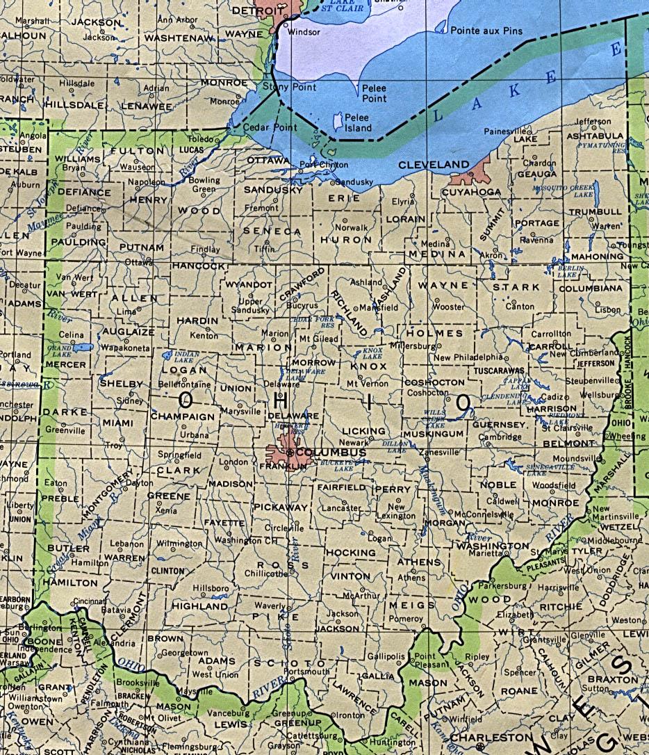 Ohio Maps - Perry-Castañeda Map Collection - Ut Library Online - Printable Map Of Toledo Ohio