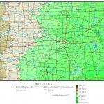 Oklahoma Elevation Map   Printable Map Of Norman Ok
