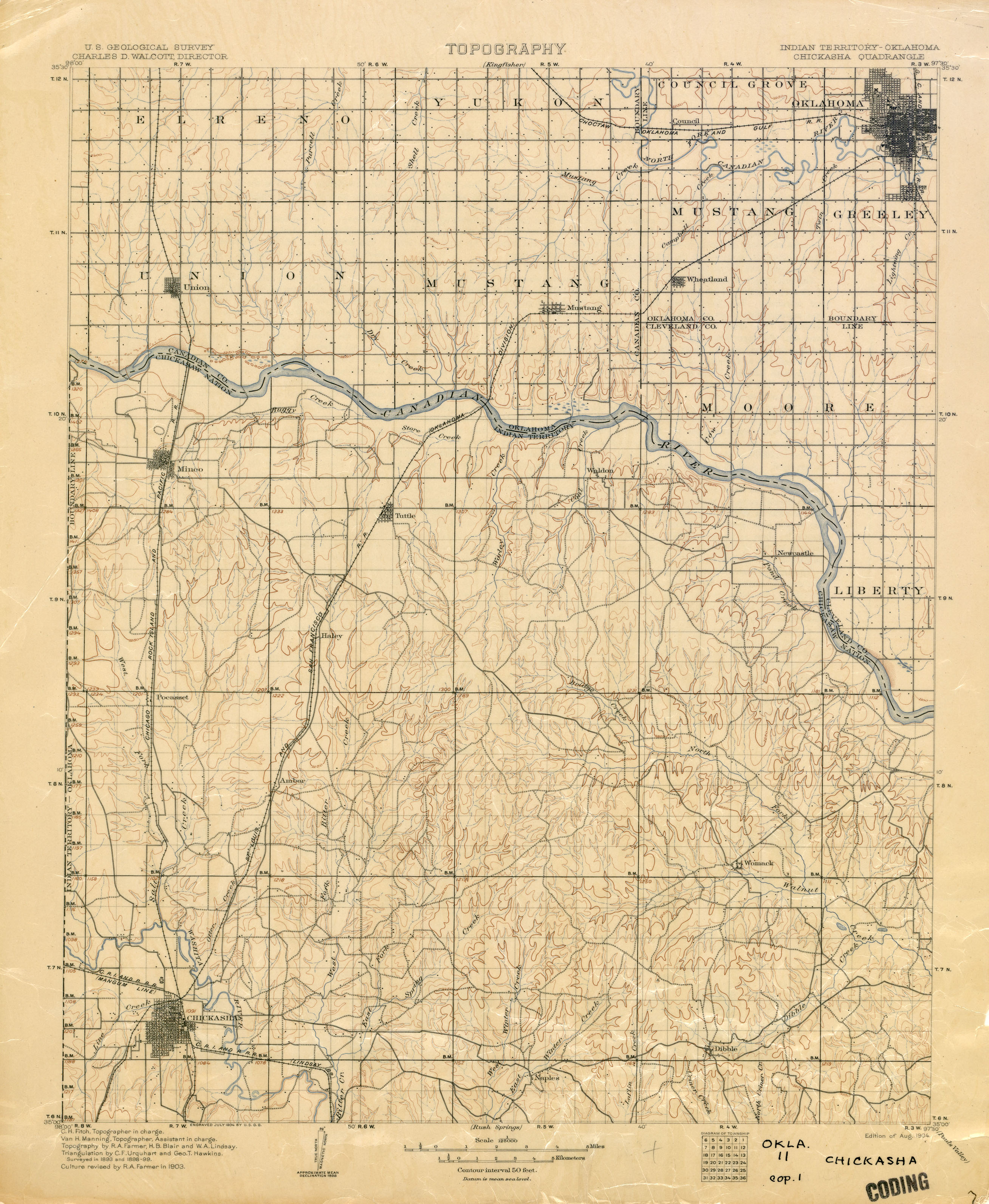 Oklahoma Historical Topographic Maps - Perry-Castañeda Map - Printable Map Of Norman Ok