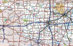 Oklahoma Road Map – Map Of Oklahoma And Texas