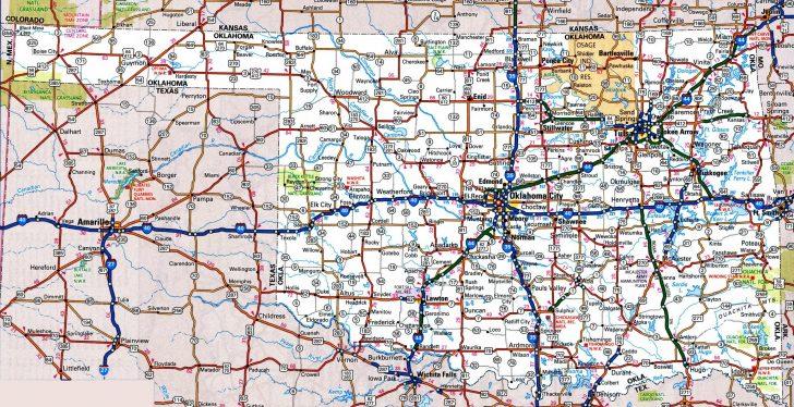 Map Of Oklahoma And Texas