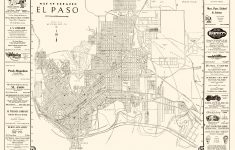 Old City Map – El Paso Texas – Western 1938 – El Paso County Map Texas