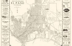 Old City Map – El Paso Texas – Western 1938 – El Paso County Map Texas