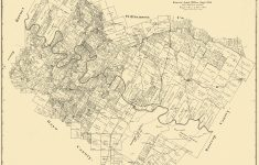 Old County Map – Travis Texas Landowner – 1894 – Antique Texas Map Reproductions
