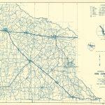 Old County Map   Van Zandt Texas   Highway Dept 1936   Van Zandt County Texas Map