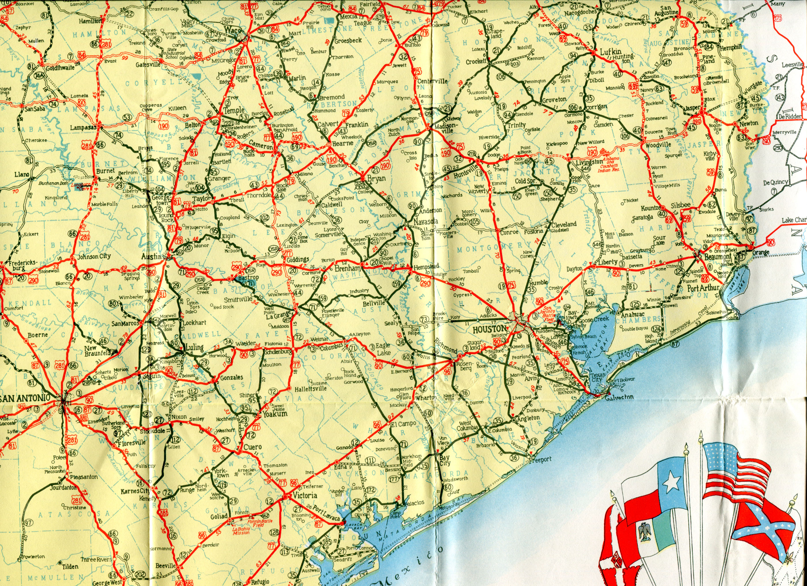 Old Highway Maps Of Texas - Official Texas Highway Map