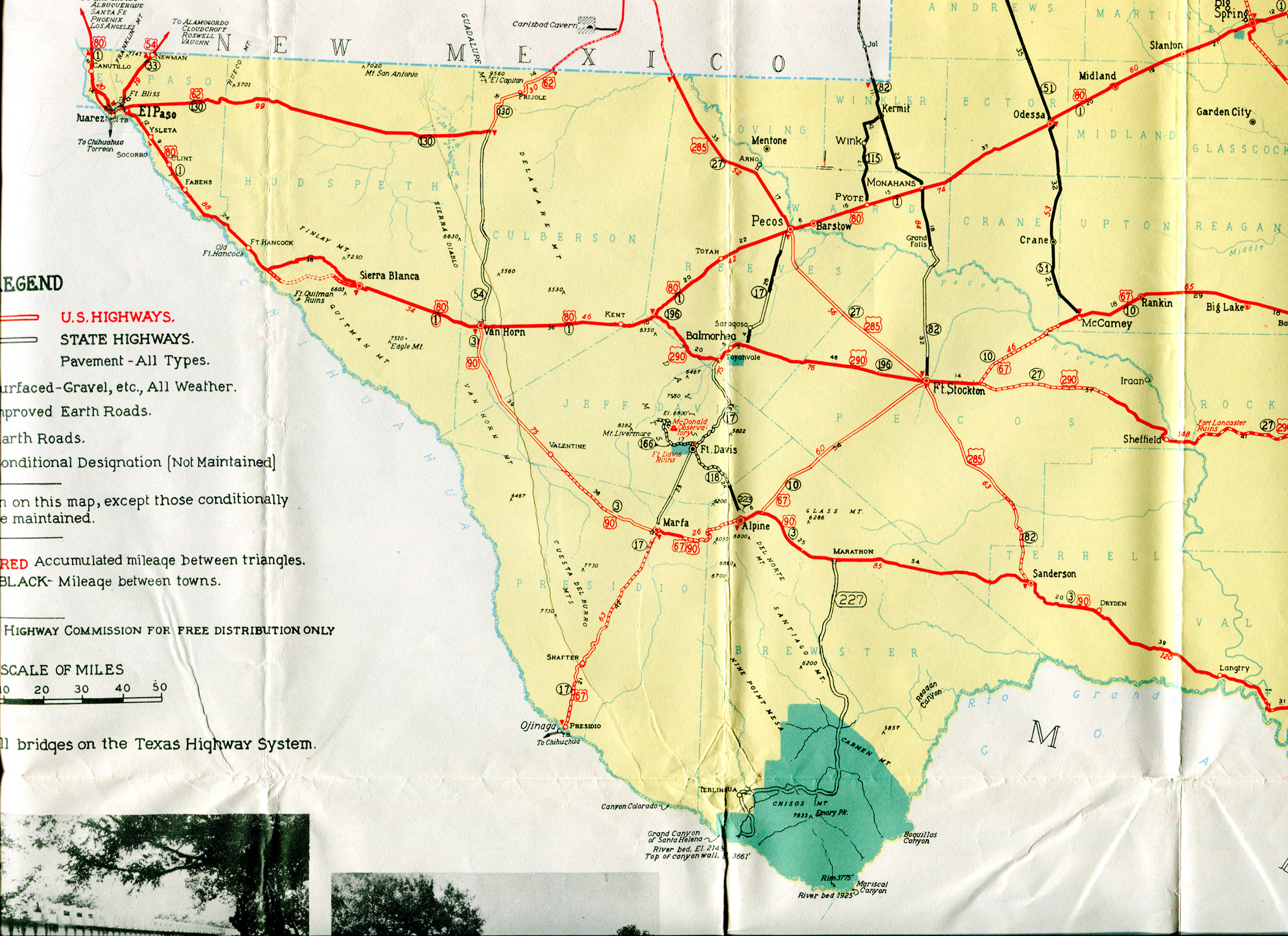 Old Highway Maps Of Texas - Road Map From California To Texas