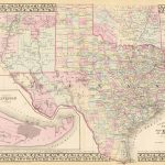 Old Historical City, County And State Maps Of Texas   Texas Historical Maps For Sale