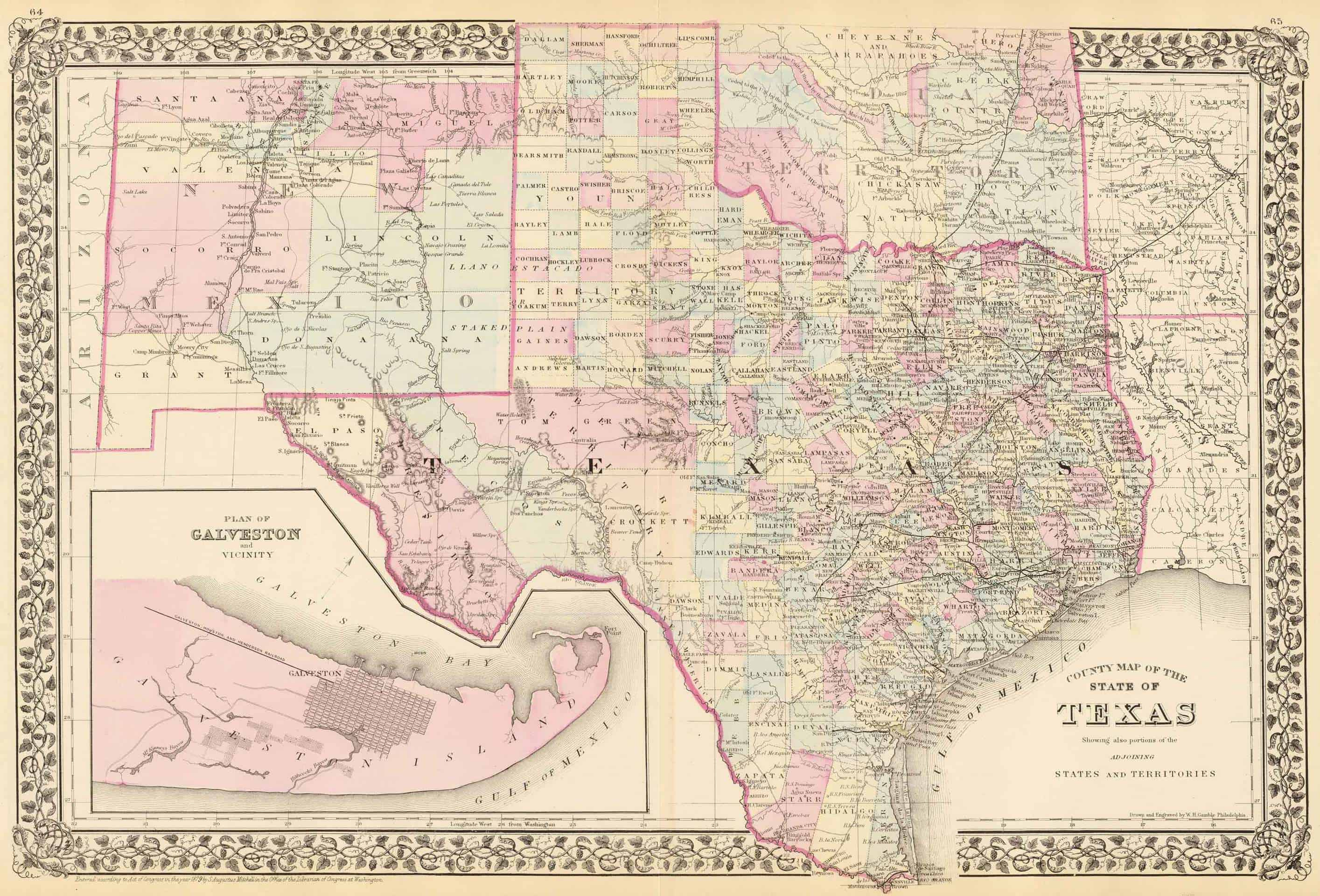 Old Historical City, County And State Maps Of Texas - Texas Survey Maps