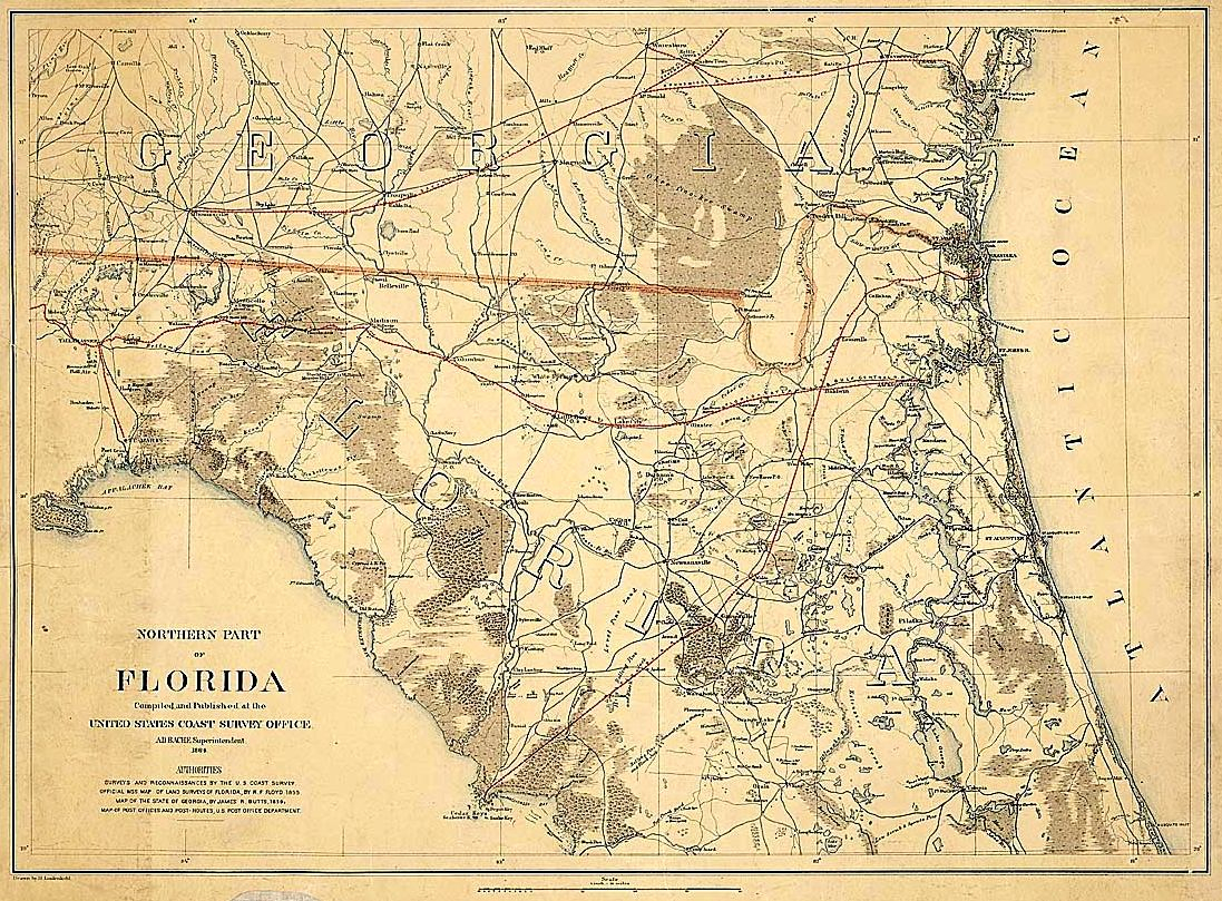 Old King's Road, Florida - Old Florida Map