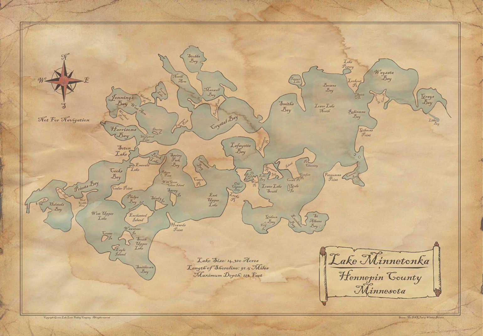 Old Lake Minnetonka Map! #ilovemn #localpride   Redstone Local - Printable Lake Minnetonka Map