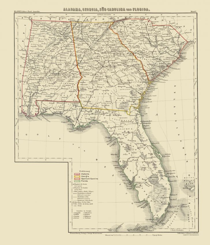 Old Florida Maps Prints