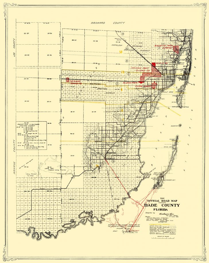 Old Florida Road Maps