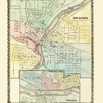 Old Map   Rockford, Sterling, Rock Falls Illinois 1870   Printable Map Of Rockford Il