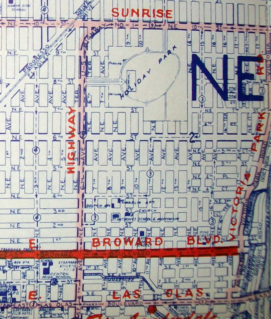 Old Maps: American Cities In Decades Past (Warning-Large Images - Street Map Of Fort Lauderdale Florida