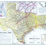 Old Railroad Map   Frisco Lines 1911   Map Of Texas Showing Frisco