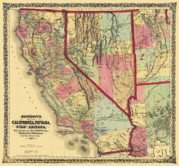 California Nevada Map