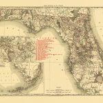 Old State Map   Florida   Rand Mcnally 1900   Florida Map 1900