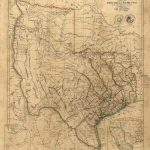 Old Texas Wall Map 1841 Historical Texas Map Antique Decorator Style   Old Texas Map Wall Art